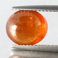 gemstone: สเปสซาไทท์-Spessartine size: 9.9x8.4x5.3 carat: 4.45Ct.