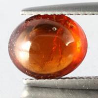 gemstone: สเปสซาไทท์-Spessartine size:  9.3x7.8x4.8 carat: 3.42Ct.