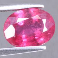 gemstone: ทับทิม-Ruby size: 9.1x6.9x3.9  carat: 2.12Ct.