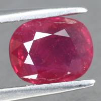 gemstone: ทับทิม-Ruby size: 8.6x6.9x4.0 carat: 2.40Ct.