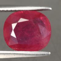 gemstone: ทับทิม-Ruby size: 9.9x8.6x3.7 carat: 3.44Ct.