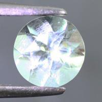 gemstone: อะคัวมารีน-Aquamarine size: 6.0x6.0 carat: 0.70Ct.