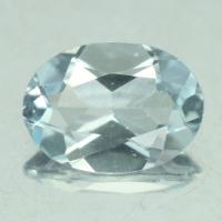 gemstone: อะคัวมารีน-Aquamarine size: 7.2x5.2 carat: 2.20Ct.