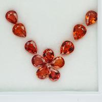 g1-620-2 orange sapphire พลอยซัฟไฟร์สีส้ม