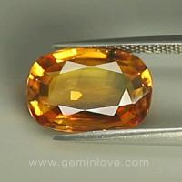 yellow sapphire พลอยบุษราคัม g1-678