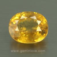 yellow sapphire พลอยบุษราคัม g1-724-4