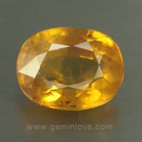 yellow sapphire พลอยบุษราคัม g1-724-9