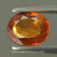 yellow sapphire พลอยบุษราคัม g1-725-4