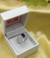 Blue Sapphire Ring, แหวนพลอยไพลิน r1-596