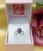 amethyst ring, แหวนพลอยอะเมทิสต์ พลอยแท้ r1-600