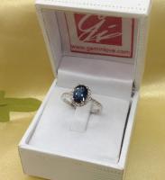 blue topaz ring แหวนพลอยน้ำเงิน r1-601